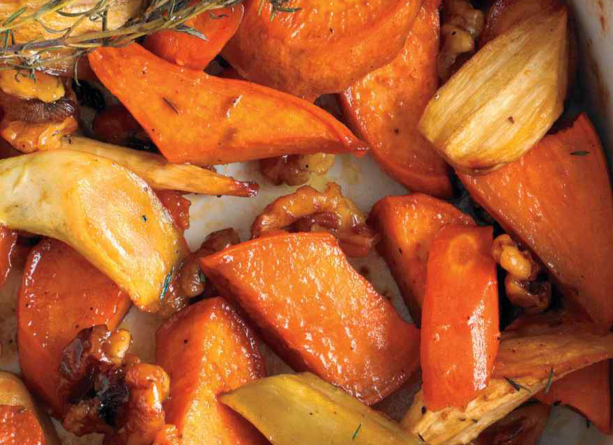 Honey-Roasted Winter Vegetables